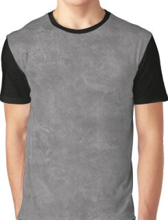 Steel Gray Oil Pastel Color Accent Graphic T-Shirt
