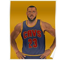 LeBron James Cleveland Cavaliers NBA Painting Poster