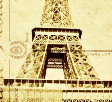 Eiffel Carte Postale Sticker