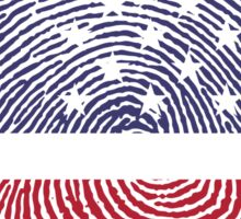 Vintage USA Finger print Sticker