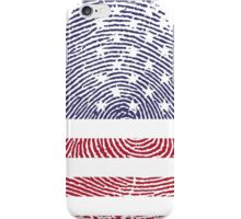 Vintage USA Finger print iPhone Case/Skin