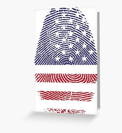 Vintage USA Finger print Greeting Card