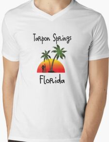 Tarpon Springs Florida. Mens V-Neck T-Shirt