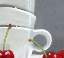 Cherries and Coffee cup Sticker