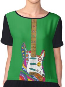 Psychedelic Guitar Chiffon Top
