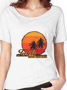Tortola Sunset Beach Women's Relaxed Fit T-Shirt