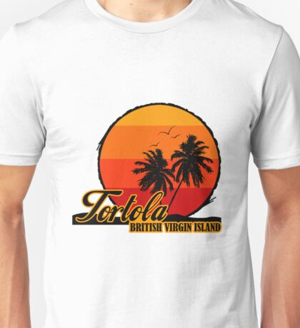 Tortola Sunset Beach Unisex T-Shirt