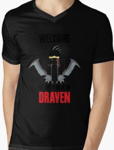 Welcome to the league of Draven Mens V-Neck T-Shirt