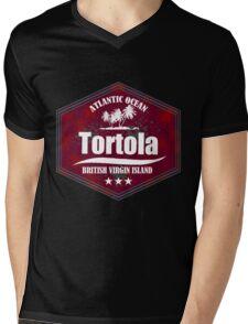 Paradise Beach Tortola Mens V-Neck T-Shirt