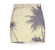 Coconut Trees Trendy Hipster Vintage Desaturated Summer Mini Skirt