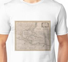 Vintage Map of The Caribbean (1720) Unisex T-Shirt