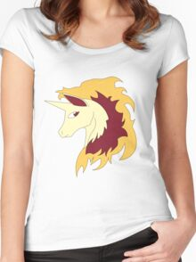 Abstract Rapidash Pokemon Women's Fitted Scoop T-Shirt
