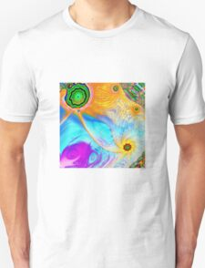 Hipster fish and Mixed colored Painting Unisex T-Shirt