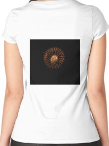 ZULU WARRIOR MASK AND HAIR Women's Fitted Scoop T-Shirt