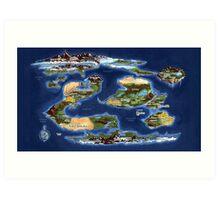 Ramathian World Map Art Print