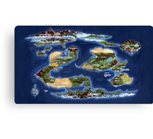 Ramathian World Map Canvas Print
