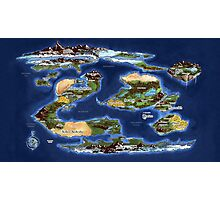 Ramathian World Map Photographic Print