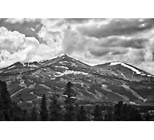 Breckenridge Ski Slopes in black and white Photographic Print