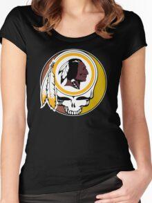 Redskins Grateful Dead Women's Fitted Scoop T-Shirt