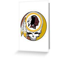 Redskins Grateful Dead Greeting Card