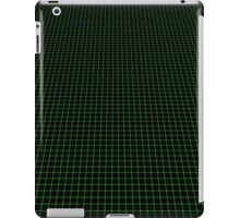 Matrix Optical Illusion Perspective Grid in Black and Neon Green V3 iPad Case/Skin
