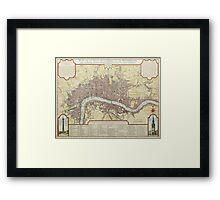 Vintage Map of London England (1727) Framed Print