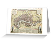 Vintage Map of London England (1727) Greeting Card