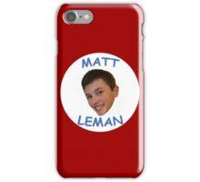 Collectable Matt Leman Merch. iPhone Case/Skin