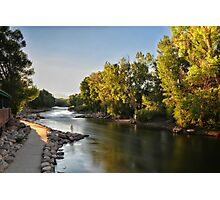 Arkansas River at Sunset Photographic Print