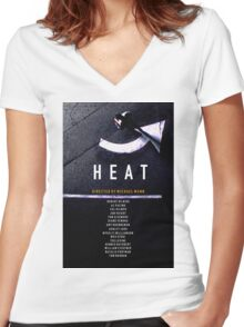HEAT 2 Women's Fitted V-Neck T-Shirt