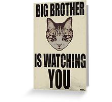 Orwellian Cat is Watching You Greeting Card