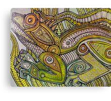 Iguana Go Home Canvas Print