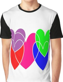 free-floating hearts Graphic T-Shirt