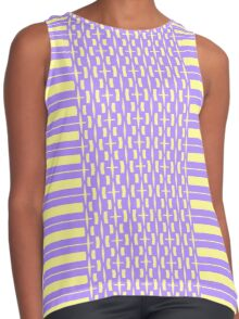 Thick And Thin Lines Contrast Tank
