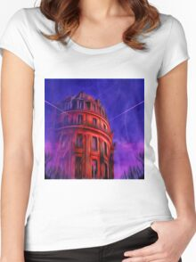 Le Grand Hotel Paris With Jetstream Women's Fitted Scoop T-Shirt