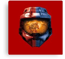 Red vs Blue Helmet Canvas Print