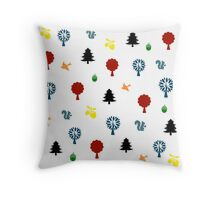 Woodland wonder Throw Pillow