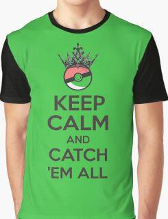 Pokemon Keep Calm and Catch 'Em All Apparel Graphic T-Shirt