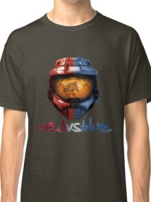 Red vs Blue Helmet with Logo Classic T-Shirt