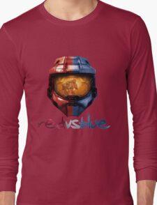 Red vs Blue Helmet with Logo Long Sleeve T-Shirt