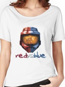 Red vs Blue Helmet with Logo Women's Relaxed Fit T-Shirt