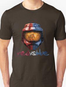 Red vs Blue Helmet with Logo Unisex T-Shirt