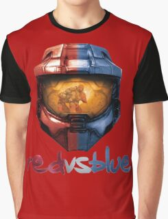 Red vs Blue Helmet with Logo Graphic T-Shirt