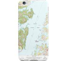 USGS TOPO Map Alaska AK Seward B-3 358908 2000 63360 iPhone Case/Skin
