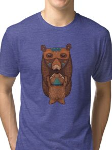 Mom and Baby Bear together Tri-blend T-Shirt