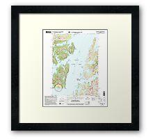 USGS TOPO Map Alaska AK Seward B-3 358908 2000 63360 Framed Print