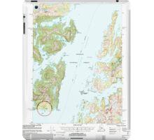 USGS TOPO Map Alaska AK Seward B-3 358908 2000 63360 iPad Case/Skin