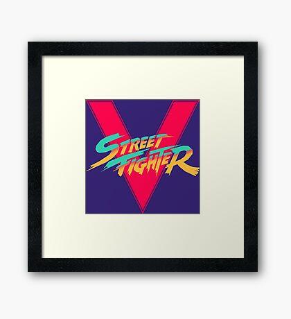 Super Street Fighter Five, 2: Turbo Impact Framed Print