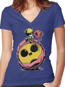 Cute Wolverine baby Women's Fitted V-Neck T-Shirt