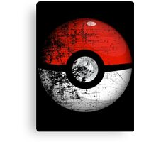 Destroyed Pokemon Go Team Red Pokeball Canvas Print